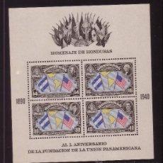Sellos: HONDURAS HB 1** - AÑO 1940 - 50º ANIVERSARIO DE LA UNION PANAMERICANA. Lote 37961850