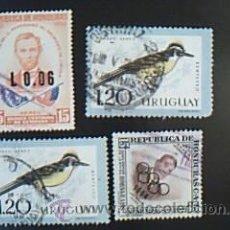 Sellos: LOTE 4 SELLOS REPÚBLICA DE HONDURAS Y URUGUAY. Lote 38018649