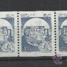 Stamps - ITALIA TIRA 5 SELLOS RULETA CASTILLOS ARQUITECTURA - 38037359