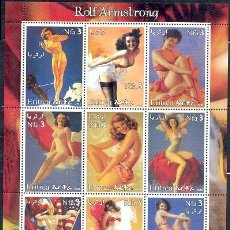 Sellos: ERITREA -HOJA BLOQUE DE SELLOS- MODELOS SEXY- OBRAS DEL ARTISTA ROLF ARMSTRONG - PIN UP. Lote 38533469