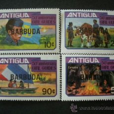 Sellos: BARBUDA 1981 IVERT 570/3 *** 50º ANIVERSARIO DE LA FUNDACIÓN DEL MOVIMIENTO DE LOS GUÍAS. Lote 38624318