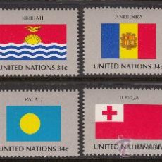 Sellos: NACIONES UNIDAS NEW YORK 845/52** - AÑO 2001 - BANDERAS . Lote 38790689