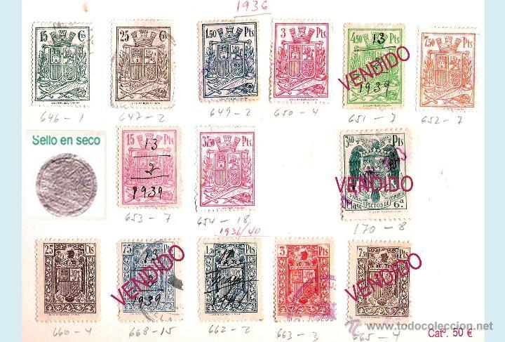 Sellos: Plancha XVII - Lote con 10 piezas. Precio 25 € - Foto 20 - 34408084