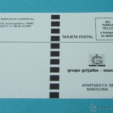 Sellos: TARJETA POSTAL A FRANQUEAR EN DESTINO GRUPO GRIJALBO - MONDADORI. Lote 39412637