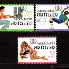 Sellos: ANTILLAS HOLANDESAS 744/46** - AÑO 1985 - AÑO INTERNACIONAL DE LA JUVENTUD. Lote 211441559