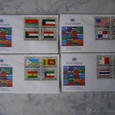 Sellos - NACIONES UNIDAS NUEVA YORK 341/356 FDC-PRIMER DIA, BANDERAS DE LOS ESTADOS MIEMBROS DE LAS NN.UU. - 40349005