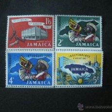 Sellos: JAMAICA 1962 IVERT 200/3 *** INDEPENDENCIA. Lote 40430741