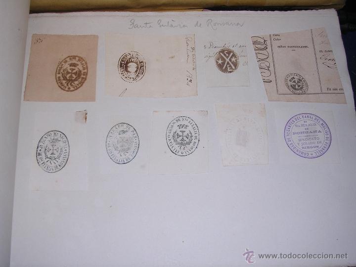 SANTA EULALIA DE RONSANA - 9 SELLOS TAMPONES AYUNTAMIENTO INSTITUCIONES S.XIX (Sellos - Temáticas - Varias)