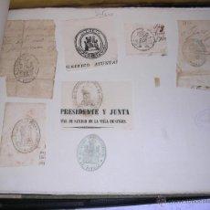 Sellos: SITGES - 9 SELLOS TAMPON AYUNTAMIENTO , INSTITUCIONES S. XIX . Lote 41004004