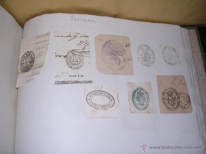 TERRASSA - TARRASA - 22 SELLOS TAMPON , AYUNTAMIENTO , INSTITUCIONES S. XIX (Sellos - Temáticas - Varias)