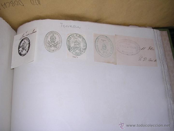 Sellos: TERRASSA - TARRASA - 22 SELLOS TAMPON , AYUNTAMIENTO , INSTITUCIONES S. XIX - Foto 3 - 41010950