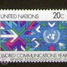 Sellos: NACIONES UNIDAS (NEW YORK) - 383/4*** AÑO INTERNACIONAL DE LAS COMUNICACIONES - AÑO 1983. Lote 43140922