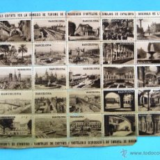Sellos: SEGELLS EDITATS PER LA COMISSIÓ DE TURISME... DE CATALUNYA. ORIGINALS DE L'ARXIU MAS, SENSE DATA.. Lote 43581111