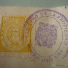 Sellos: COLEGIO NACIONAL DE REGISTRADORES DE ESPAÑA. 15 PESETAS. LLEVA SELLO ESTAMPADO DEL REGISTRO . Lote 43676857