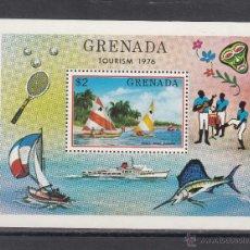 Sellos: GRENADA HB 49 SIN CHARNELA, TURISMO, BARCO, FAUNA, DEPORTE, . Lote 43699463