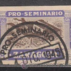 Sellos: VIÑETA PRO SEMINARIO DE ZARAGOZA DE 1945, SEMINARIO, USADO. Lote 43912588