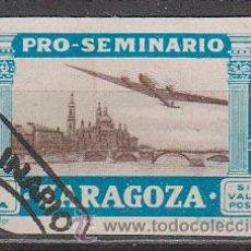 Sellos: VIÑETA PRO SEMINARIO DE ZARAGOZA DE 1945, USADO. Lote 43912620