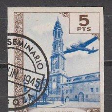 Sellos: VIÑETA PRO SEMINARIO DE ZARAGOZA DE 1945, USADO. Lote 43912677
