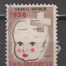 Sellos: VIÑETA SEGELL CATALA DE 1934, PRO INFANCIA, USADO. Lote 43912815