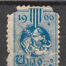 Sellos: VIÑETA DE UNIO VALENCIANISTA DEL AÑO 1900, USADO. Lote 43912886