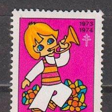 Sellos: VIÑETA, FRANCIA, CAMPAÑA CONTRA LA TUBERCULOSIS, AÑO 1973, NUEVA. Lote 43979560