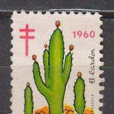 Sellos: VIÑETA, MEJICO, CAMPAÑA CONTRA LA TUBERCULOSIS, AÑO 1960, USADA. Lote 43979597
