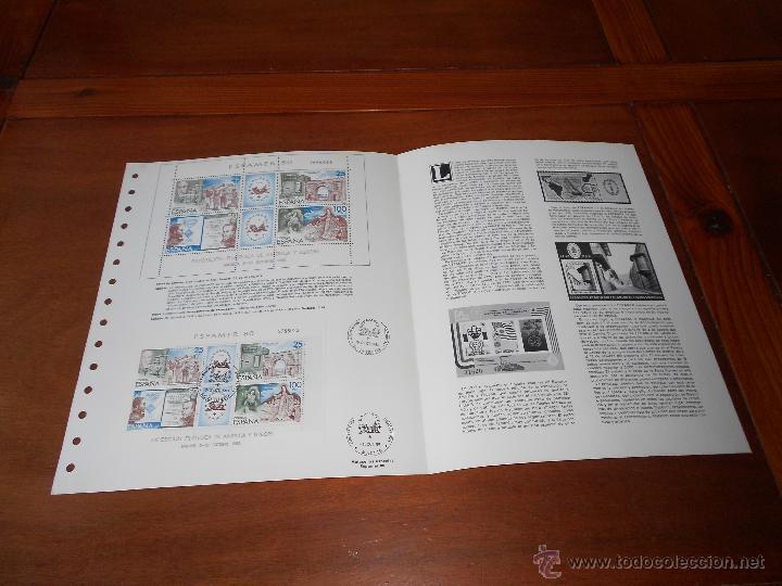 Sellos: HOJA DOBLE ALBUM DOCUMENTO FILATÉLICO, TIRADA NUMERADA, ESPAMER 3/10/1980 - Foto 3 - 44145937