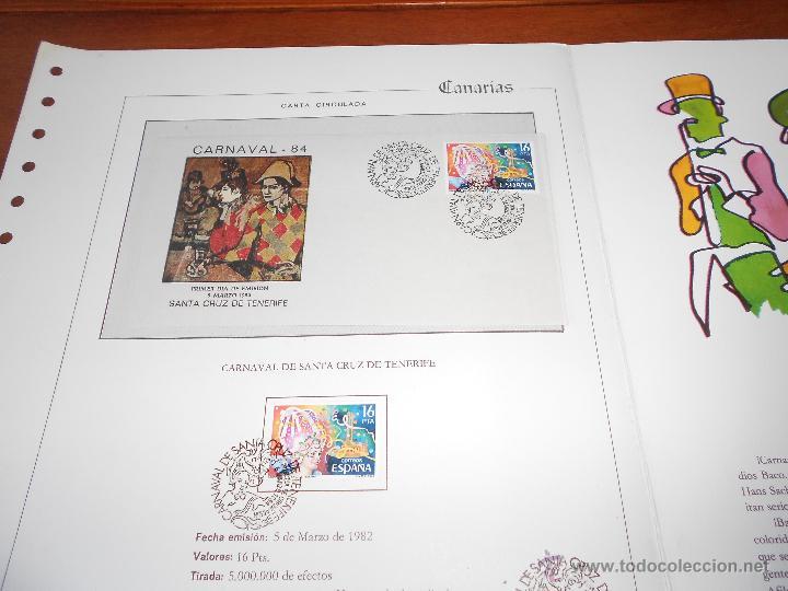 Sellos: HOJA DOBLE ALBUM DOCUMENTO FILATÉLICO, TIRADA NUMERADA, CANARIAS, TENERIFE CARNAVAL 5/3/1984 - Foto 2 - 44145940