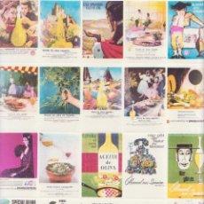 Sellos: HOJA 20 SELLOS VIÑETAS EXPORTACION ACEITE DE OLIVA ESPAÑOL COLA NUEVOS 28 X 25 CM AÑOS 60 EMBE. Lote 289392738