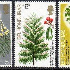 Sellos: BELIZE HONDURAS BRITANICA AÑO 1972 YV 291/95*** ÁRBOLES Y ARBUSTOS - FLORA - NATURALEZA. Lote 45471797