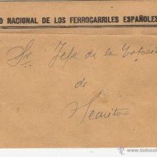 Sellos: RENFE - RED NACIONAL DE LOS FERROCARRILES ESPAÑOLES - DIRIGIDO A LA SECUITA. Lote 46385772