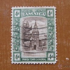 Sellos: JAMAICA 1920, CATEDRAL DE SPANISH TOWN, YVERT 87. Lote 46958854