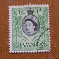 Sellos: JAMAICA 1956, ISABEL II, CAÑA DE AZUCAR, YVERT 167. Lote 46959425