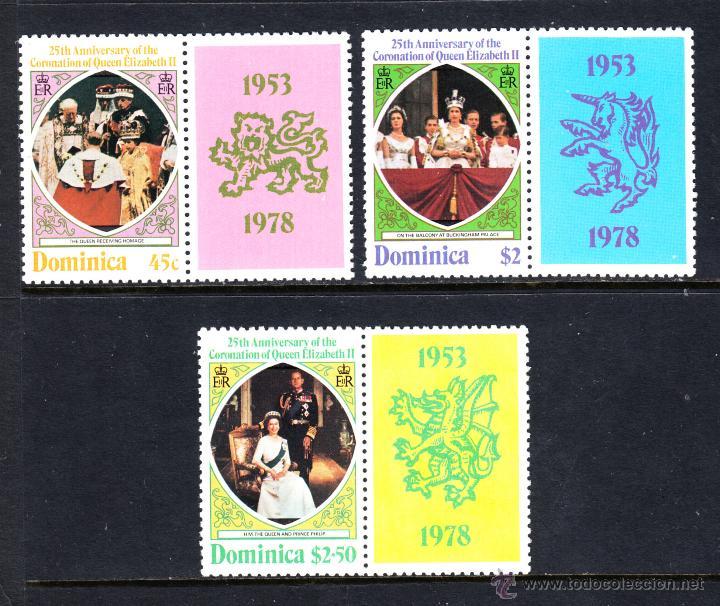 DOMINICA 561/63** - AÑO 1978 - 25º ANIVERSARIO DE LA CORONACIÓN DE ISABEL II (Sellos - Extranjero - América - Otros paises)