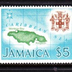 Sellos: JAMAICA 459** - AÑO 1979 - MAPA DE JAMAICA. Lote 48604091