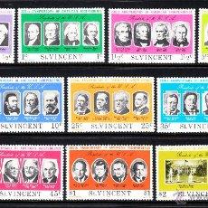 Stamps - SAN VICENTE 414/23** - AÑO 1975 - BICENTENARIO DE LA INDEPENDENCIA DE ESTADOS UNIDOS - PRESIDENTES - 48707709