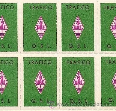Sellos: HOJA 50 SELLOS U.R.E. UNIÓN RADIOAFICIONADOS ESPAÑOLES - COMO NUEVA - Foto 2 - 49030759