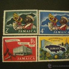 Sellos: JAMAICA 1962 IVERT 200/03 *** ANIVERSARIO DE LA INDEPENDENCIA. Lote 50040482