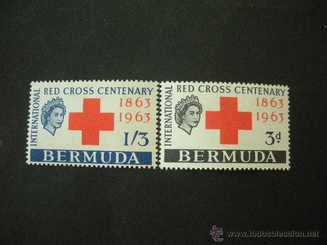 BERMUDA 1963 IVERT 181/2 *** CENTENARIO DE LA CRUZ ROJA INTERNACIONAL (Sellos - Extranjero - América - Otros paises)