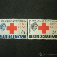 Sellos: BERMUDA 1963 IVERT 181/2 *** CENTENARIO DE LA CRUZ ROJA INTERNACIONAL. Lote 50040664