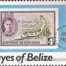 Sellos: SELLO BELICE - CAYES OF BELICE - 2$. Lote 50056246