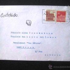 Sellos: SOBRE FRANQUEADO ALEMANIA 1966.. ENVIO INCLUIDO.. Lote 50618294