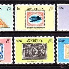 Sellos: ANGUILLA 316/21** - AÑO 1979 - CENTENARIO DE LA MUERTE DE SIR ROWLAND HILL. Lote 50883324