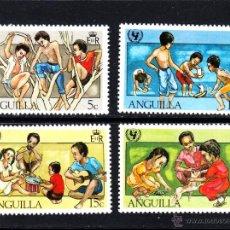Sellos: ANGUILLA 412/15** - AÑO 1981 - 35º ANIVERSARIO DE UNICEF - JUEGOS INFANTILES. Lote 50952714