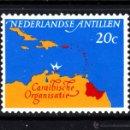 Sellos: ANTILLAS HOLANDESAS 336** - AÑO 1964 - REUNION DEL CONSEJO DEL CARIBE. Lote 159810878