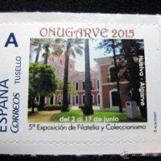 Sellos: SELLO PERSONALIZADO ONUGARVE 2015 CASA COLÓN HUELVA (TU SELLO CORREOS) TARIFA A. Lote 105325008