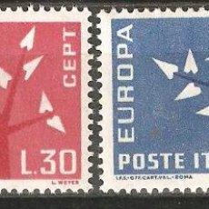 Sellos: LOTE Z 2-SELLOS ITALIA EUROPA CEPT NUEVOS SIN CHARNELA. Lote 194968457