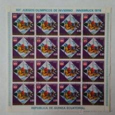 Sellos: 2 PLIEGOS DE 16 SELLOS GUINEA ECUATORIAL JUEGOS OLÍMPICOS INVIERNO INNSBRUCK 1976. Lote 51584253