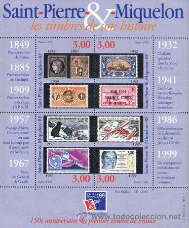 ST PIERRE & MIQUELON 1999 YVERT BF-6** PHILEXFRANCE 99 (Sellos - Extranjero - América - Otros paises)