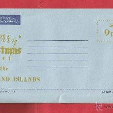 Sellos: ISLAS MALVINAS AEROGRAMA A MERRY CHRISTMAS FROM FALKLAND ISLANDS AIR LETTER AEROGRAMME MALOUINES . Lote 54106046
